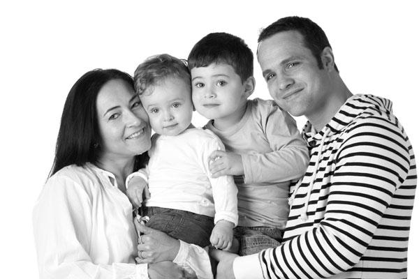 Auch in Schwarzweiß werden Familienshootings zum Highlight in Prüm