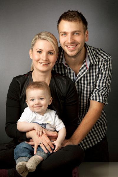 Familienportrait zu dritt von PM Studios