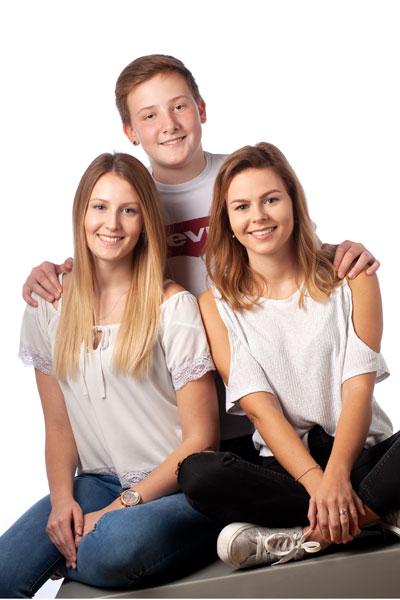 Familienportraits weden gerne bei uns im PM Fotostudio gebucht