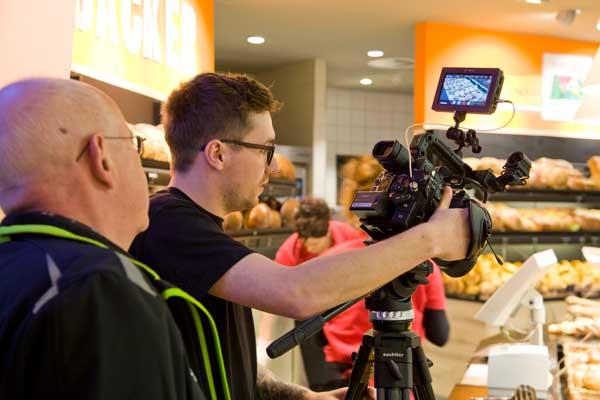 Die Künstler beim Filmen, unser Team : Joachim Mayer und Dieter Pfingstmann